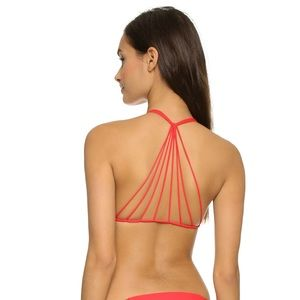 Mikoh Banyans Bikini Top, Blaze size medium